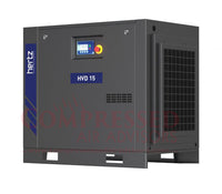 Hertz Kompressoren HVD15 - 20hp Variable Speed Rotary Screw Air Compressor, Base Mount, 82.6 SCFM @ 125 PSI