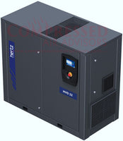 Hertz Kompressoren HVD18 - 25hp Variable Speed Rotary Screw Air Compressor, Base Mount, 114.7 SFM @ 125 PSI