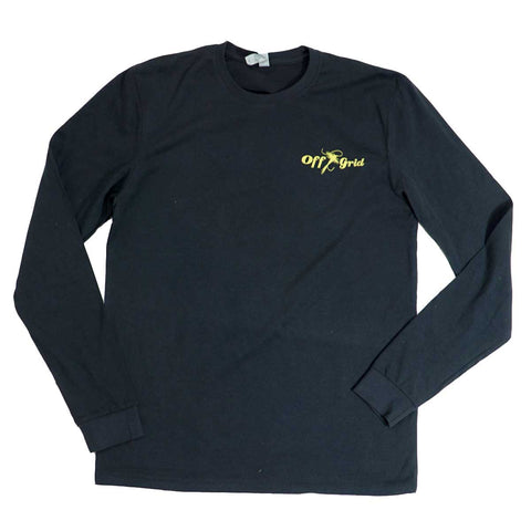 Image of Hook It LS Tee - Black/Yellow