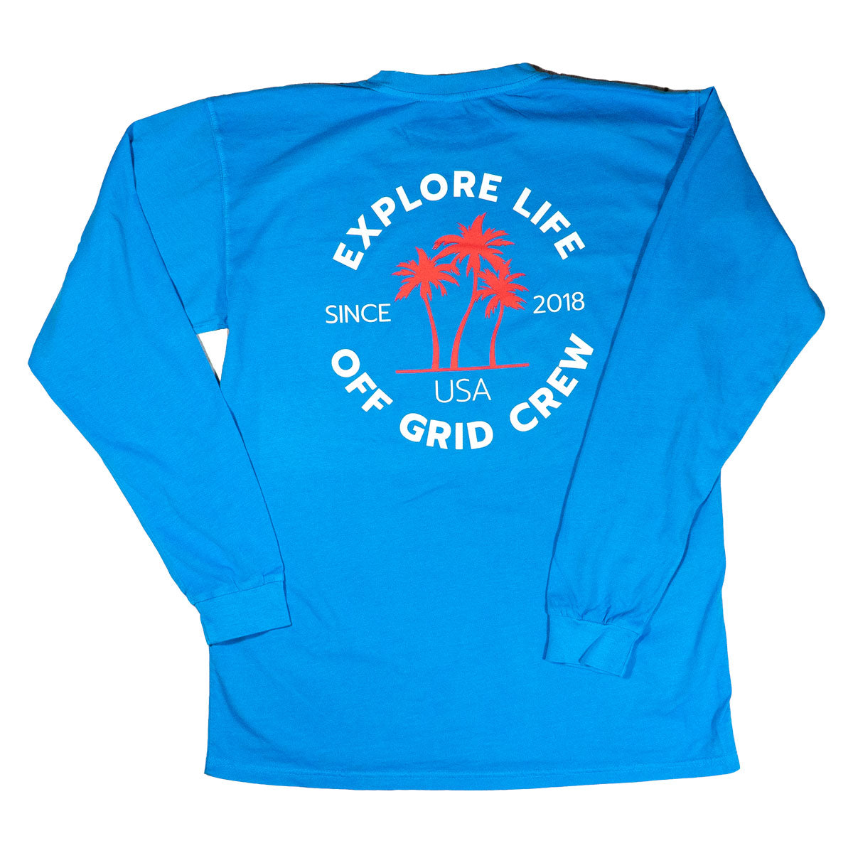 Explore Life Off Grid LS Blue Tee