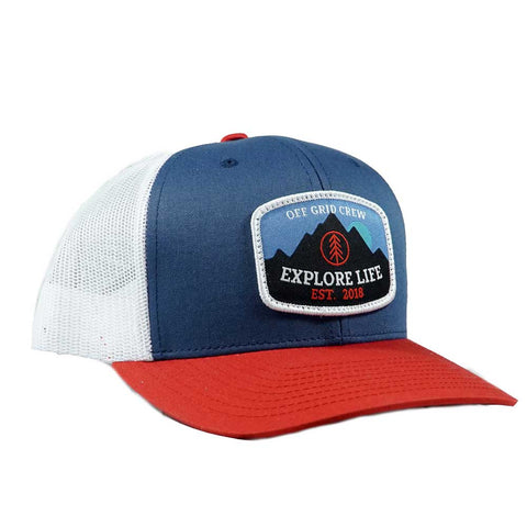 Image of Explore Life OGC Hat - Blue/White/Red