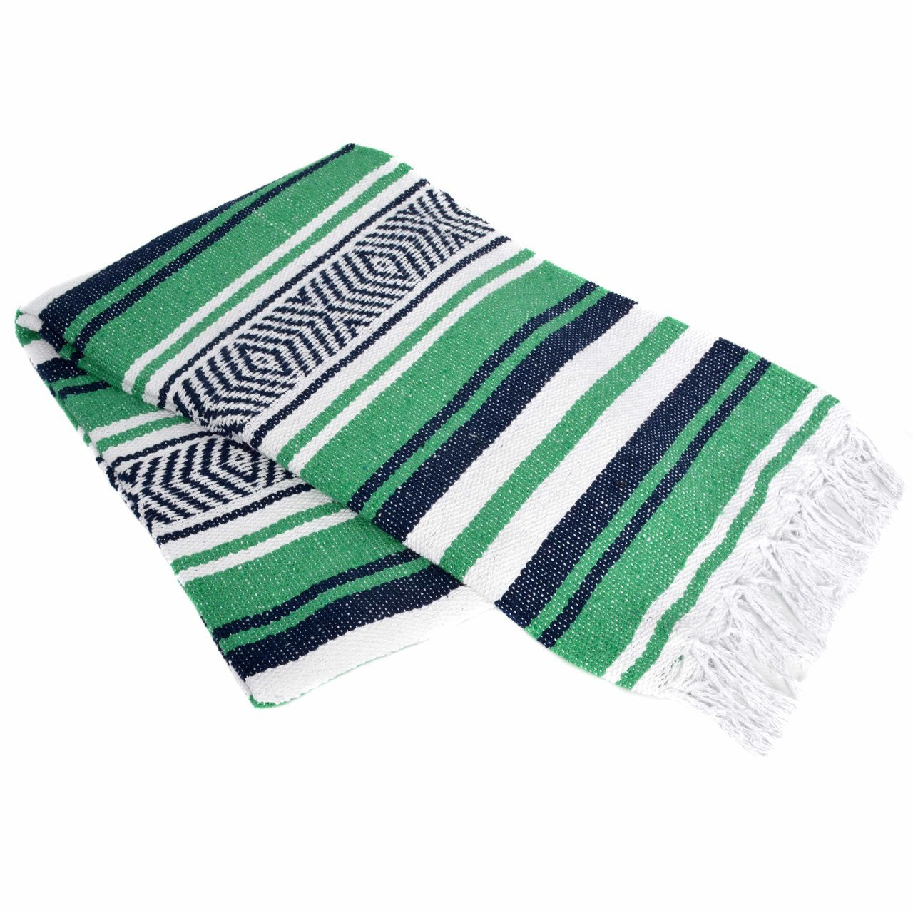 Kelly Green and Blue Falsa Blanket
