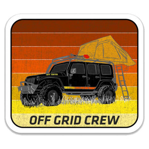 Off Grid Crew Jeep Decal