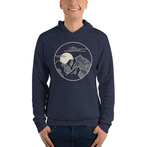 Mountain Shadow Heather Navy Hoodie
