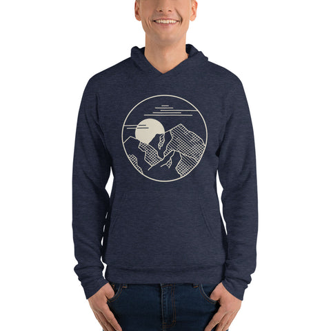 Image of Mountain Shadow Heather Navy Hoodie