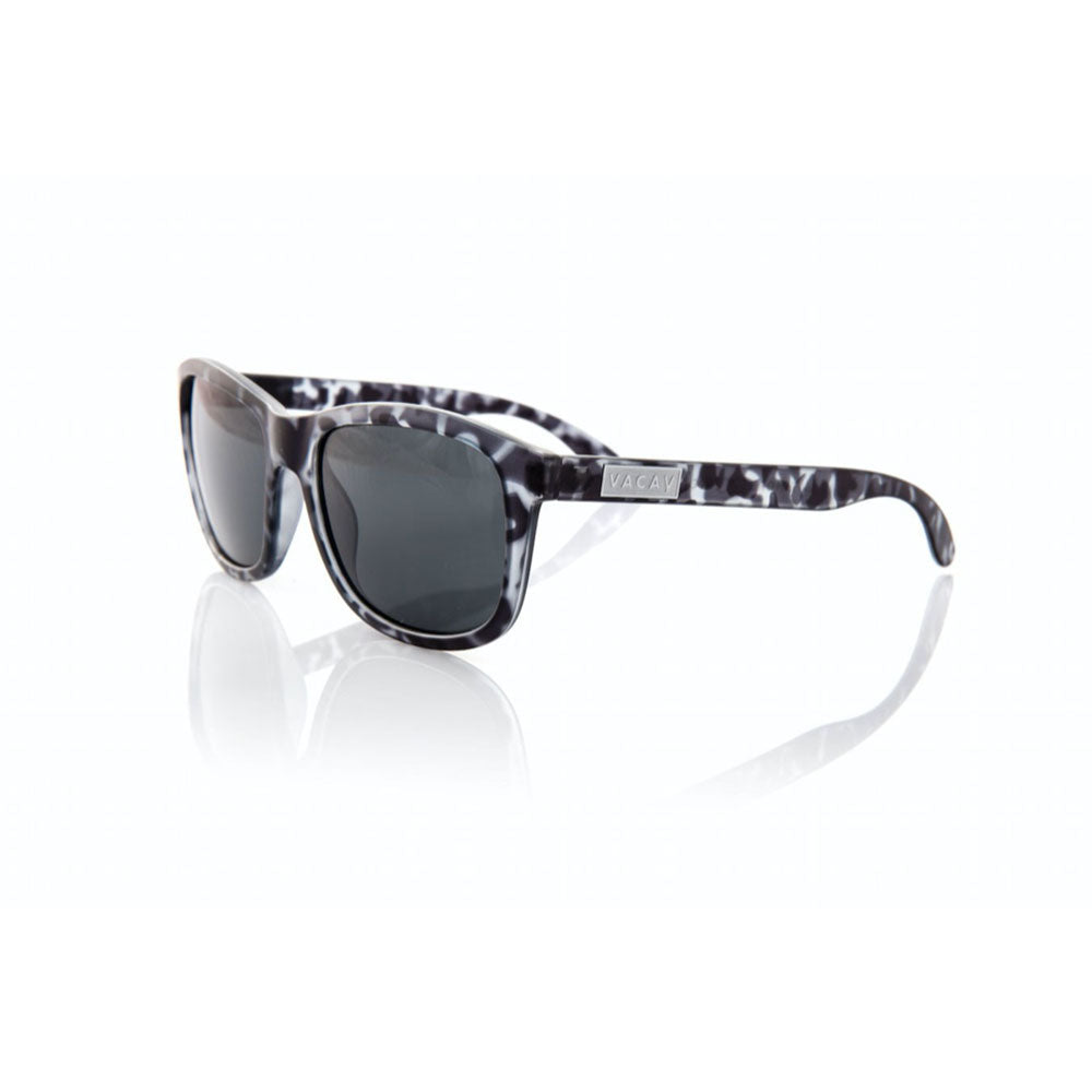 Vacay Sunglasses, Grey / Tortoise color with silver logo and polarized lens