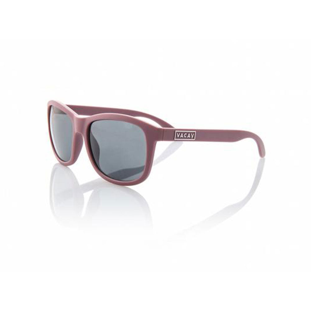 Vacay Sunglasses, classic plum color matte non-polarized