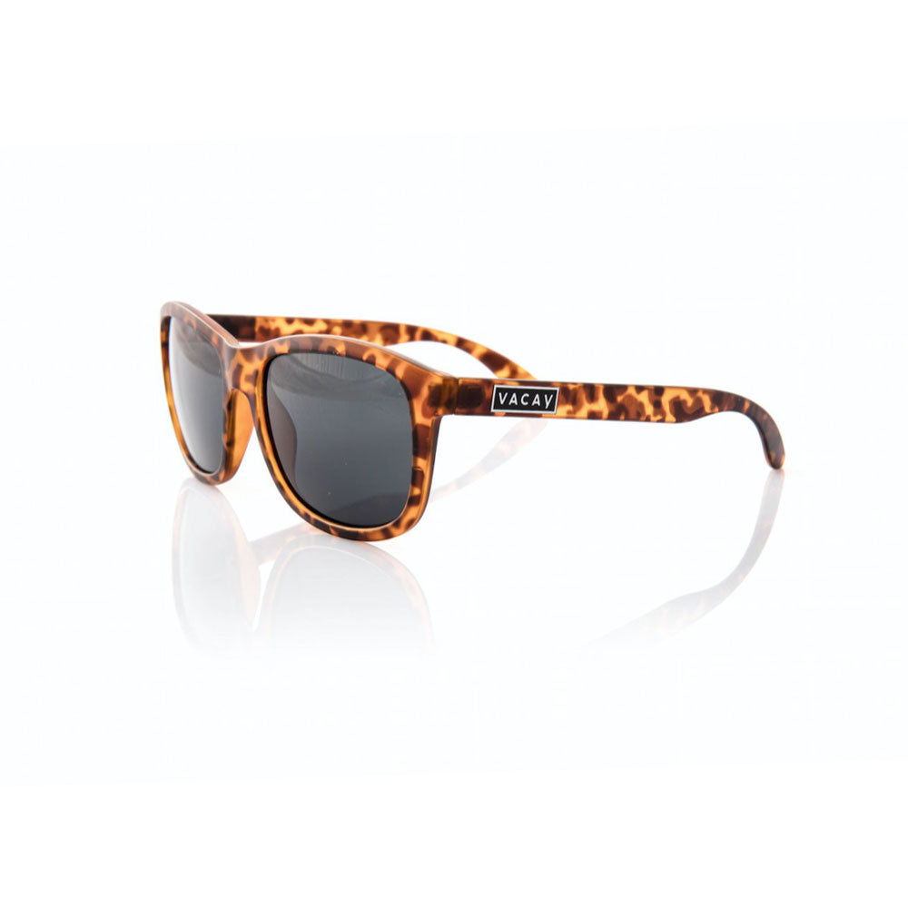 Vacay Sunglasses, Tortoise with silver logo and polarized lens