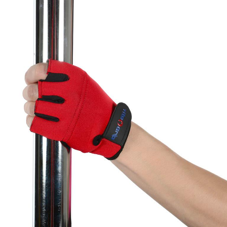 Tight Grip High Performance Magic Aerial Gloves for Women Red