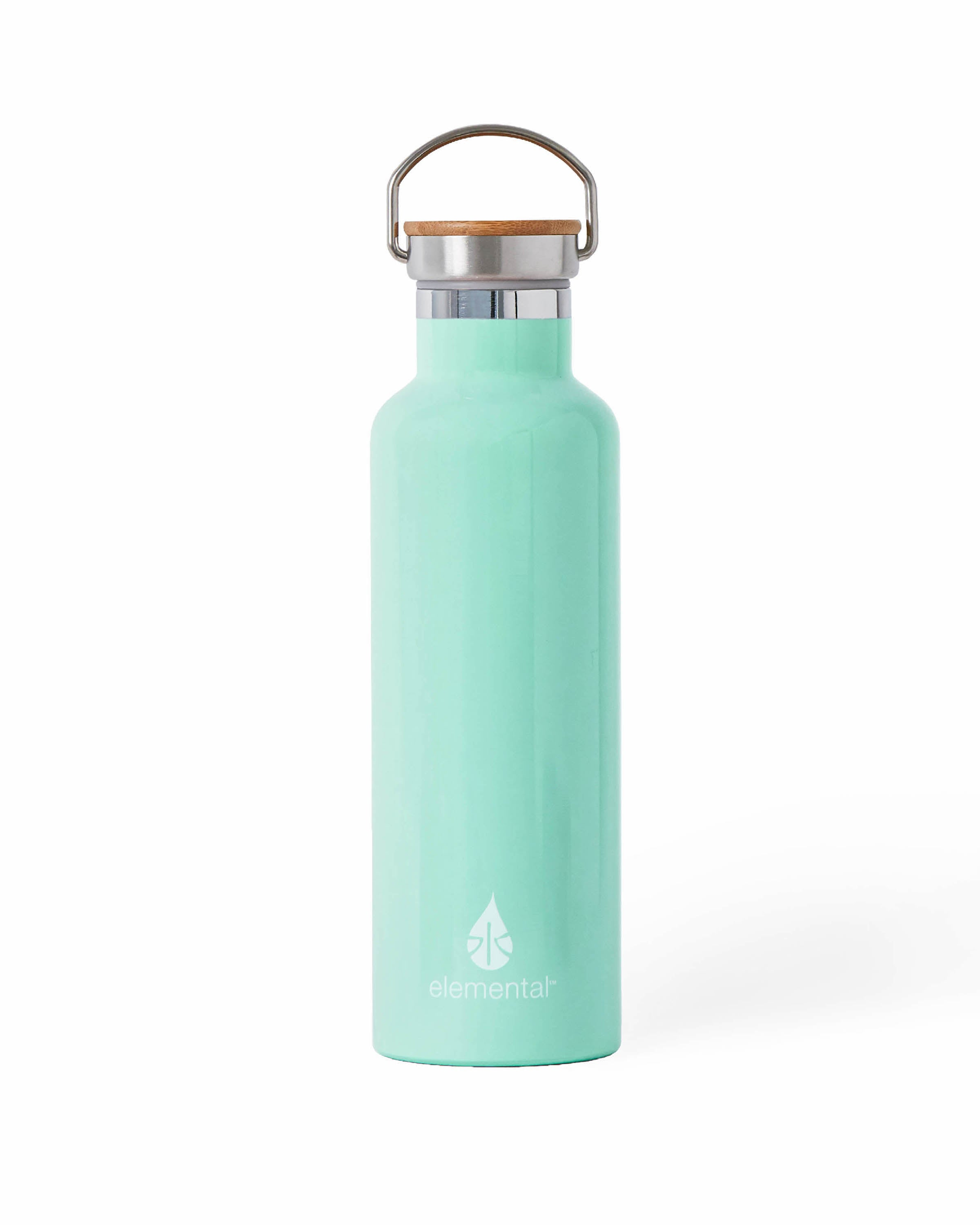 Elemental Stainless Steel Water Bottle 25oz (750ml) - Bamboo Cap