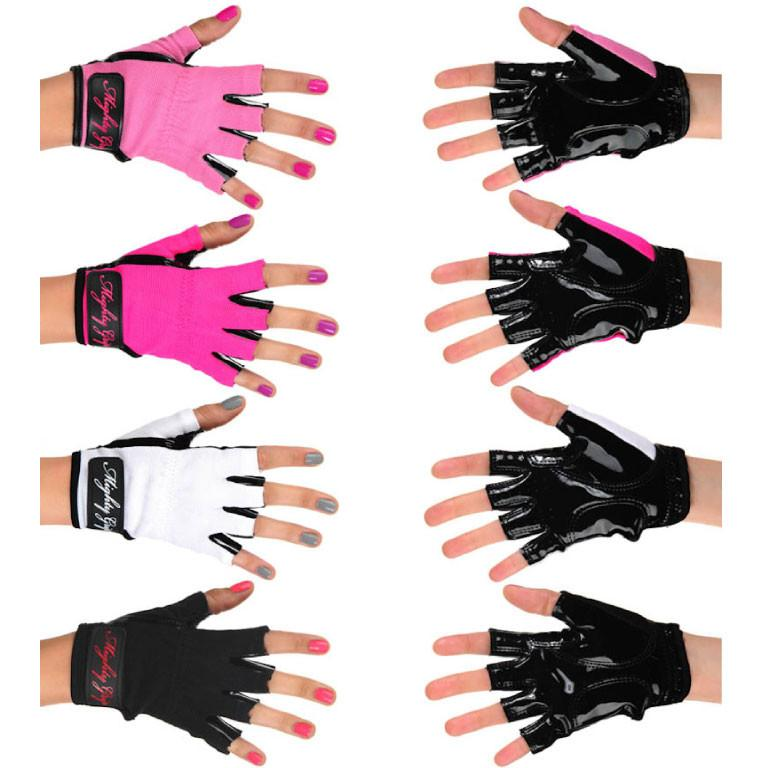 Mighty Grip Pole Dance Training and Fitness Glove Pink Black White