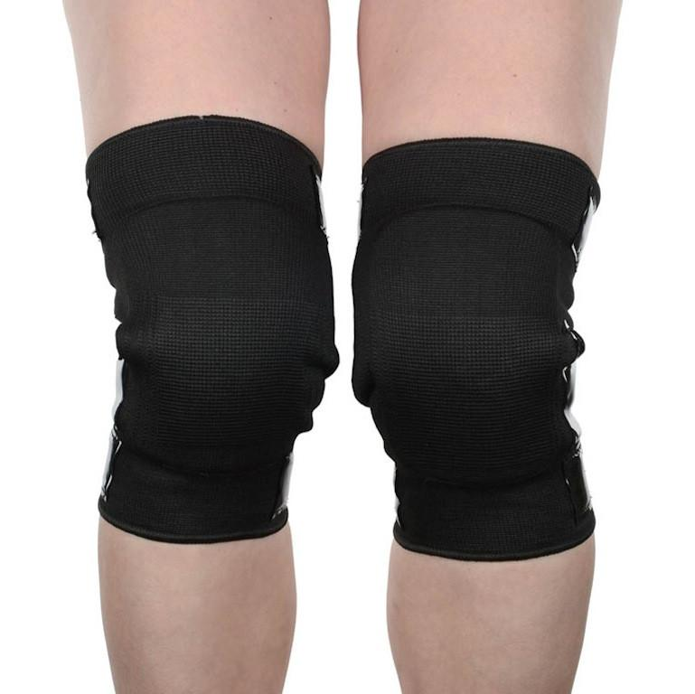 Mighty Grip Open Back Knee Protector Pads Black Front