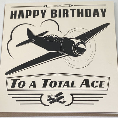 Aeroplane Birthday Card