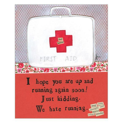 'First Aid' Get Well Card