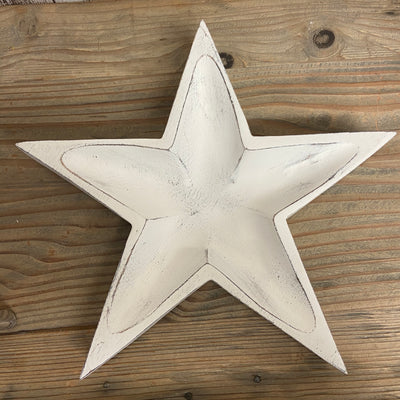 Retreat - White Wooden Star Tray Dish