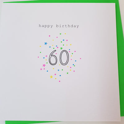 Happy Birthday 60 Card