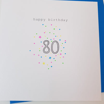 Happy Birthday 80 Card