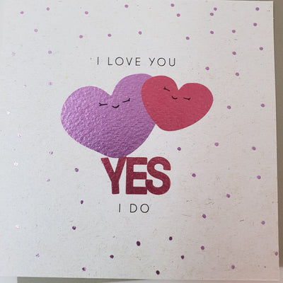 'I Love You Yes I Do' Greetings card