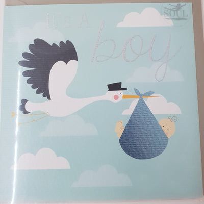 'It's A Boy' Greetings Card