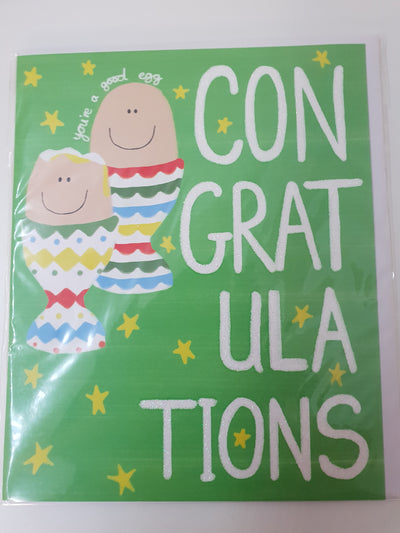 'Congratulations' you're a good egg Greetings Card
