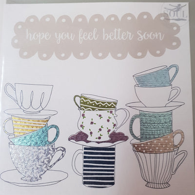 'Hope You Feel Better Soon' Greetings Card