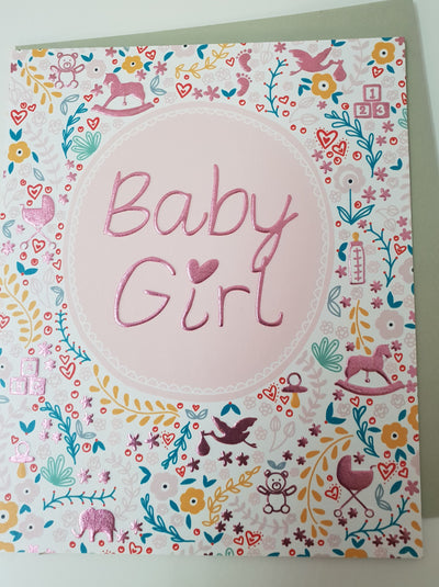 'Baby Girl' Greetings Card