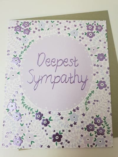 'Deepest Sympathy' Greetings Card