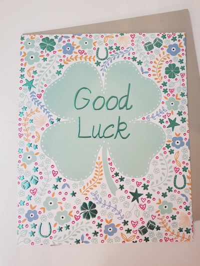 'Good Luck 'Greetings Card