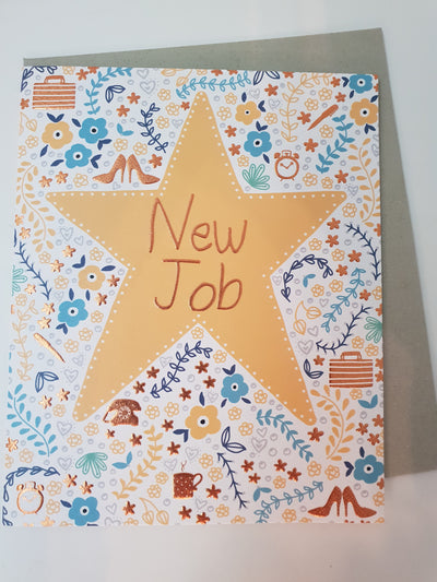 'New Job' Greetings Card