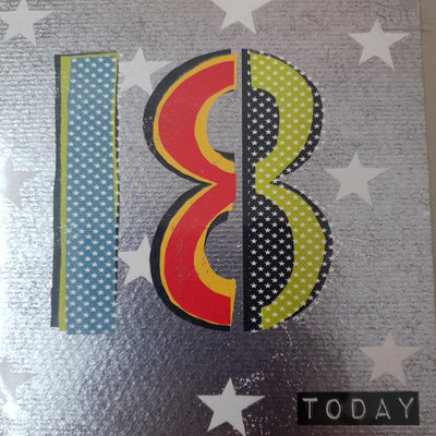 '18 Today' Greetings Card