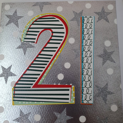 '21' 21st Birthday Card