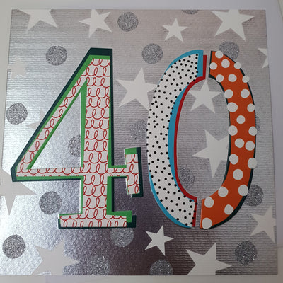 '40' 40th Birthday Card