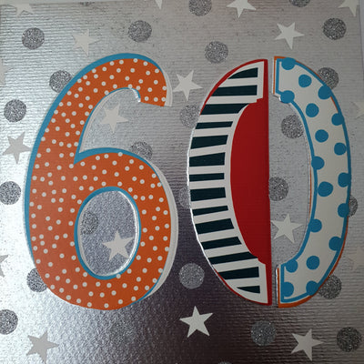 '60' 60th Birthday Card