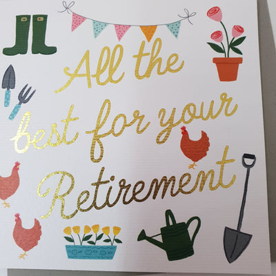 'All The Best Retirement' Greetings Card