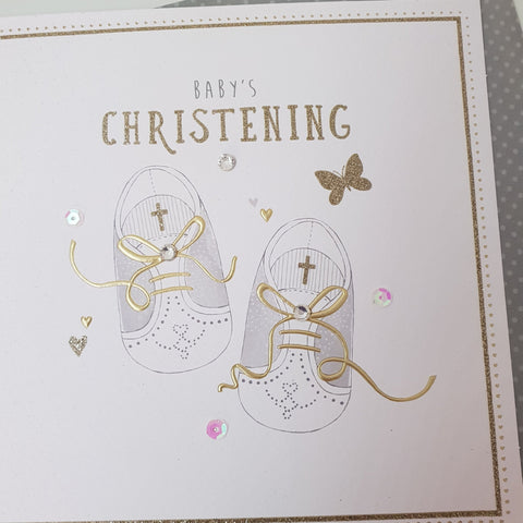 Baby's Christening Card