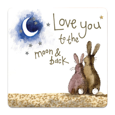 Alex Clark- Love You To The Moon And Back Rabbit Coaster