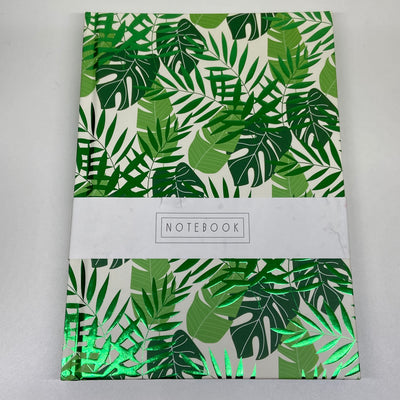Half Lined A5 Notebook - Fern