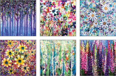Notecard pack - Arty Floral