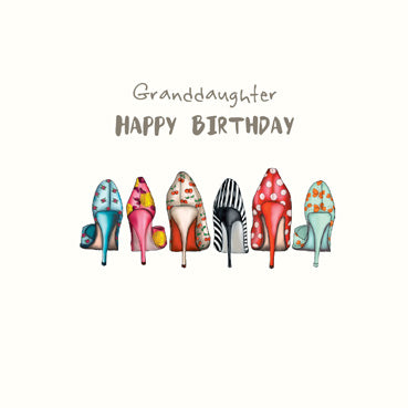 Granddaughter Shoes Birthday Card