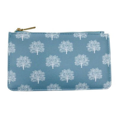 Tree Print Zipped Purse