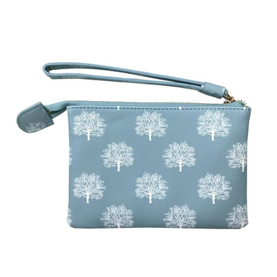 Tree Print Purse with Wrist Strap