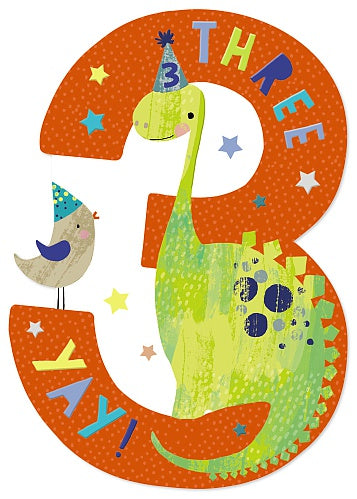 3rd Birthday Dinosaur Card