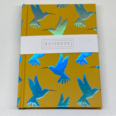 Half Lined A6 Notebook - Hummingbird