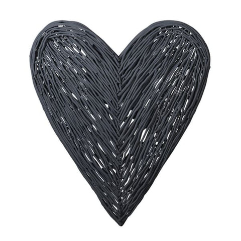 Dark Grey Willow Heart