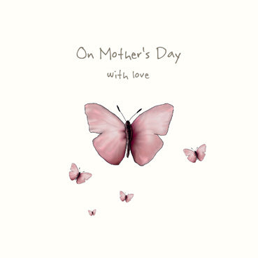 On Mother's Day With Love - Butterfly Card