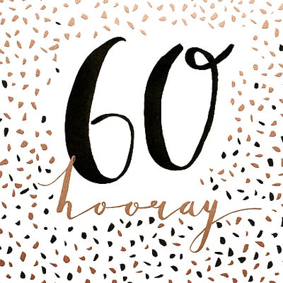 60 hooray Birthday Card