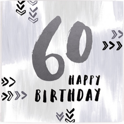 60 Happy Birthday Card