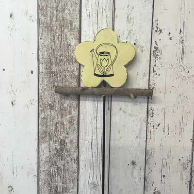 Wooden Flower on a Stick