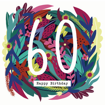 '60' Happy Birthday Card