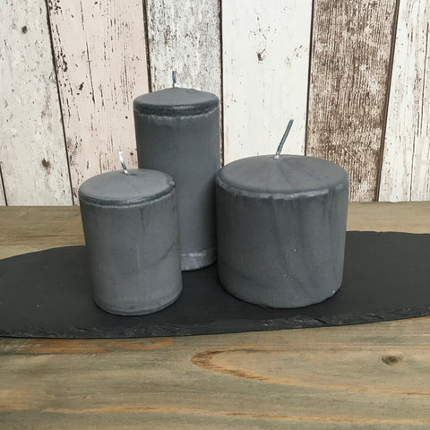 Hand Poured Candles in 3 Sizes - Grey